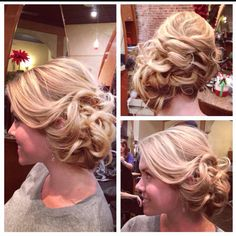 Hair...updo by me<3