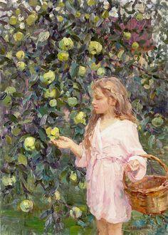 Jabłka w sadzie - E.Salnikova.