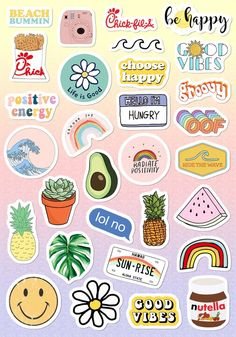 VSCO Light Pink Blue Yellow Funny Stickers for Girls for Bottle Phone Case . - VSCO light pink blue yellow Funny stickers for girls for bottle cell phone case … – nice pictur -