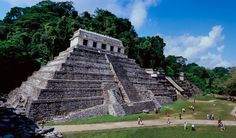 The Temple of the Inscriptions at Palenque Chiapas Mexico