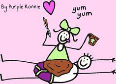 Chocolate love by Purple Ronnie