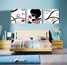 Abstract bedroom wall decoration