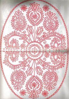 Chain Stitch Embroidery, Embroidery Stitches, Embroidery Patterns, Hungarian Embroidery, Folk Embroidery, Painting Patterns, Fabric Patterns, Stitch Head, Polish Folk Art