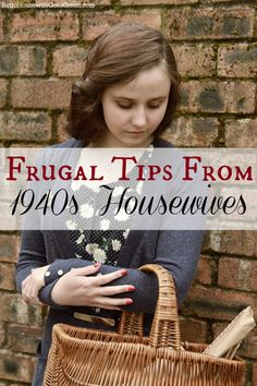 Housewives in the had many challenges to face and one was living on very little money. We can learn so much from their frugal ways. Living On A Budget, Frugal Living Tips, Frugal Tips, Ways To Save Money, Money Tips, Money Saving Tips, Vintage Housewife, Fru Fru, Budgeting Tips