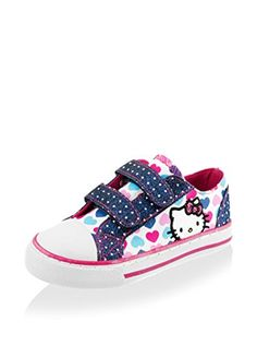 www.myhabit.com : Hello Kitty Lil Poppy Sneaker Durable canvas sneaker with cute print, glittery details, toe cap and adjustable hook-and-loop straps