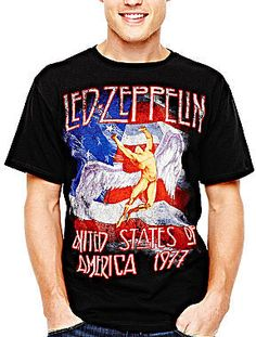 jcpenney Novelty T-Shirts Led Zeppelin T-Shirt on shopstyle.com