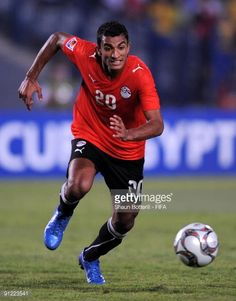 Hussam Arafat of Egypt in action during the FIFA U20 World Cup Group A match between Egypt and Paraguay at the Cairo International Stadium on...