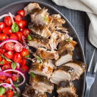 Balsamic-Glazed Pork Tenderloins from our blog - A sweet balsamic glaze does double duty here — basting the tender slow-cooked pork, and dressing the tangy salad. It makes a big batch, so you can freeze some. Enjoy this on all phases!