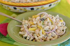 Take your taste buds on a vacation with this Mediterranean Pasta, Chickpea, and Fennel Salad with Creamy Feta-Dill Dressing - Three Many Cooks