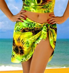 Hawaiian Green stretch mesh wrap swimwear coverup. Perfect to compliment any swimsuit separates.  Shop: http://www.jackiesboutique.com/ProductDetails.asp?ProductCode=HAWGRMESHWRAP