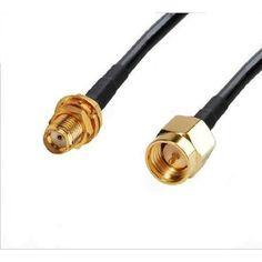 50 ohm Coax  Cable US MADE 35 ft  RG-58  SMA Male to SMA Female