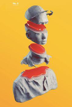3D Faces // Photos to 3D sculptures by Phillip Peters