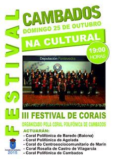 CORES DE CAMBADOS: FESTIVAL DE CORAIS EN CAMBADOS