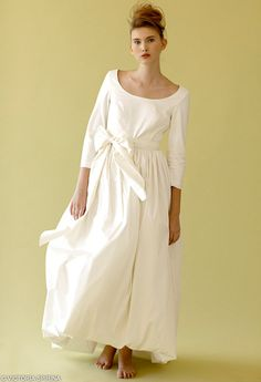 Rose Blossom Winter Wedding dress with sleeves by VICTORIASPIRINA