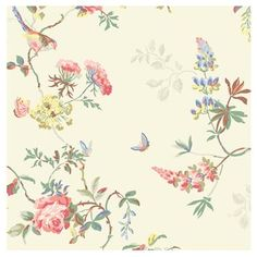 Update your home with this unique Wallpaper, with inspiration taken from a gorgeous vintage swatch found in a flea market. This luxurious print features birds and roses in gentle colours and captures the delicate nature of printing. Choose from a classic cream or sugary green background. Click here to view our wallpaper buying guide.