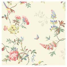 Cath Kidston - Birds & Roses Wallpaper