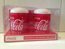Coca-Cola Coke Salt and Pepper Shakers Gibson Kitchen Home Retro Diner Free Ship