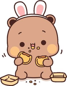 Cute Love Cartoons, Cute Cartoon, Panda Gif, Cartoon Gifs, Cute Bears, Cute Gif, Seulgi, Mochi, Ariel