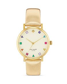 kate spade NEW YORK : Gold Patchwork MetroWatch