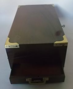 Caja escritorio de campaña de caoba