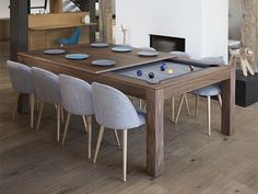 Dining Room Table Converts To Pool Table And Tv Is Behind Mirror Amazing Dining Room Pool Table Review