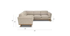 Timber Rain Cloud Gray Corner Sectional - Sectionals - Article | Modern, Mid-Century and Scandinavian Furniture