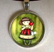 Little girl glass cabochon necklace glass cabochon teacher Sister Gifts, Best Friend Gifts, Mother Gifts, Gifts For Friends, Little Girl Pictures, Little Girls, Babysitter Gifts, Red Necklace, Red Jewelry
