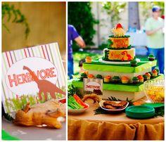 Dinosaur Themed 3rd Birthday Party with Lots of Really Great Ideas via Kara's Party Ideas   KarasPartyIdeas.com #DinosaurParty #PartyIdeas