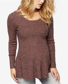 A Pea in the Pod Maternity Peplum Sweater