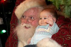 Santa Claus and happy baby Santa Real, Santa Claus Photos, Happy Baby, Fingerless Gloves, Arm Warmers, Elf, Merry Christmas, Fingerless Mitts, Merry Little Christmas