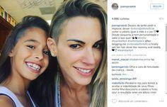 joana prado 2016 | Virou moda! Até filha de Vitor Belfort raspou a cabeça em apoio ao ...