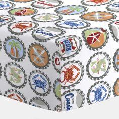 Bottle Caps Crib Sheet #carouseldesigns