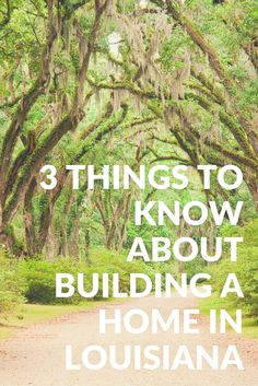 What to know about building a home in Louisiana: https://lynchconstructiongroup.com/3-things-to-know-about-building-a-home-in-louisiana/