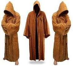 Nobody likes a smelly Jedi, so keep clean and dry yourself off after a nice cleansing shower with these Jedi Bath Robes. These Jedi Bath Robes are officially licensed Star Wars Bath Robes and come in a one size fits all.. even Jabba himself could fit in this robe.