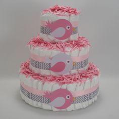 Diaper Cake Three Birds