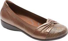 56126d7d4 Andrea-AR Ballerina Flat. Women's Aravon Andrea-AR Ballerina Flat - Bronze  Leather with FREE Shipping & Exchanges.