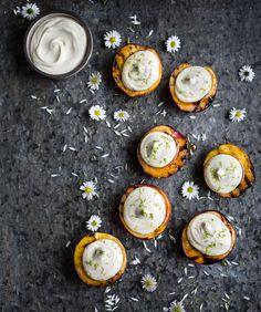 Grillade nektariner med vit chokladkräm | By diadonna