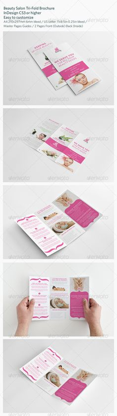 Beauty Salon Tri-Fold Brochure