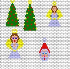 Xmas earings (my favs) graph included - OCCASIONS AND HOLIDAYS