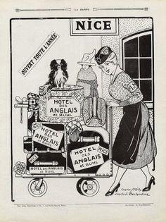 Hôtel des Anglais (Nice) 1919 Charles Odis d'après Berlandina Luggages