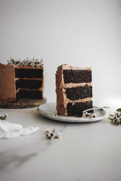 Chocolate Hazelnut Cake with Gianduja Praline Swiss Meringue Buttercream