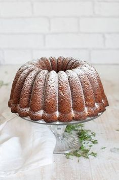 carrot pineapple walnut bundt cake with cream cheese Glaze For Cake, Bunt Cakes, Loaf Cake, Pound Cake Recipes, Bakery Cakes, Cake With Cream Cheese, Sweet Bread, Carrot Cake, Coffee Cake