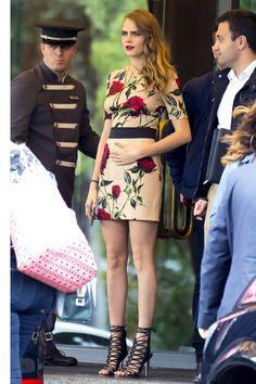 In a Dolce & Gabbana dress and Sophia Webster heels in Madrid   - Seventeen.com