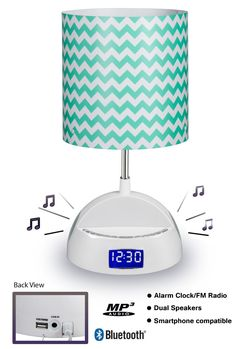 Lamp, Bluetooth speaker, alarm clock, FM radio and USB charging station all in one? What dorm room couldn't use this stylish decor gadget?