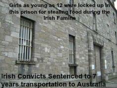 Irish Female Convicts Transported to Australia in Convict Ship 1848 Irish Famine, Old Irish, Irish People, England Ireland, Irish Girls, Australia Day, Family History, Dublin, Prison