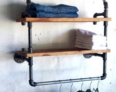 Clothing Rack and Double Shelf