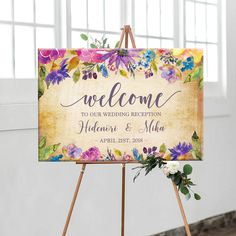 ウェルカムボード Welcome Design, Welcome Boards, Welcome To Our Wedding, Chalkboard Wedding, Wedding Images, Wedding Accessories, Wedding Reception, Watercolor Paintings, Wedding Flowers