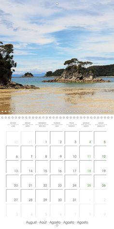 "Reisekalender mit Planer ""New Zealand – Variety of the South Island"", Kalenderblatt August: Torrent Bay"