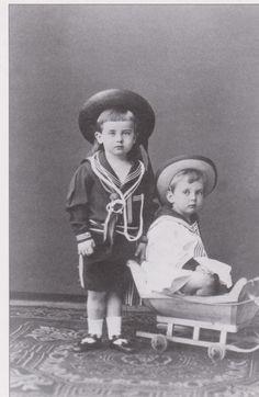 Grand Dukes Boris and Andrei, sons of Grand Duke Vladimir Alexandrovich  and Grand Duchess Maria Pavlovna