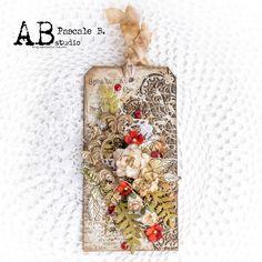 Elegance - A. Studio (Scrap Made in Touraine) Scrapbooking, Scrapbook Paper, Studio Speakers, Matte Gel, Modeling Paste, Art Basics, Stamp, Little Flowers, Distress Ink